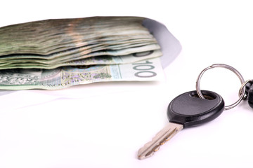 car keys and a lot of money