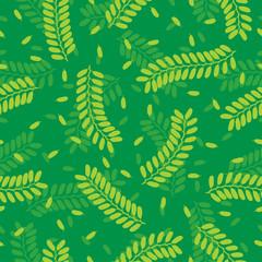 Seamless Tamarind Leaves Pattern