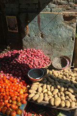 Fresh vegetables in Indian Town