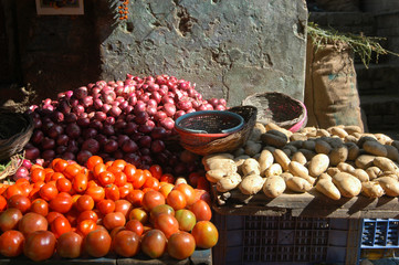 Fresh vegetables in India