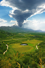 Neretva delta in Croatia
