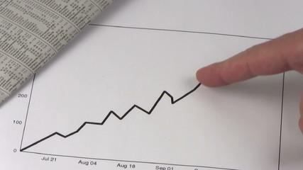 Upward stock chart V2 - HD