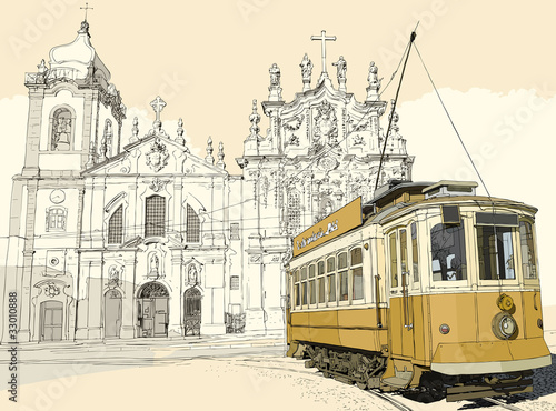 tramway in Porto © Isaxar