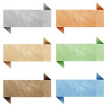 Header origami tag recycled paper craft poster