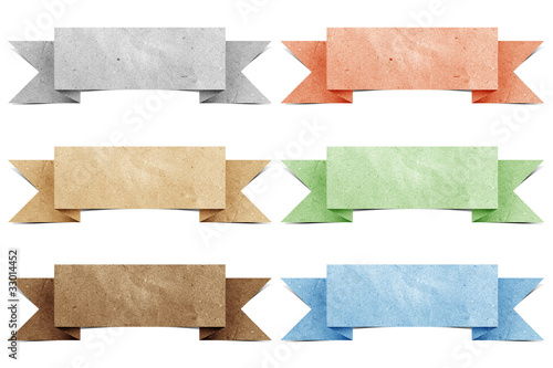 poster of Header origami tag recycled paper craft