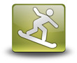 "Yellow 3D Effect Icon ""Snowboarding"""