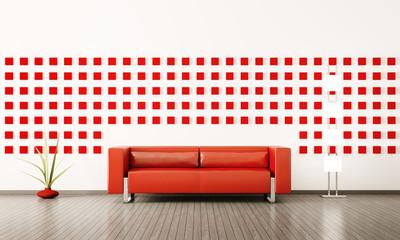 Modern interior mit sofa 3d render