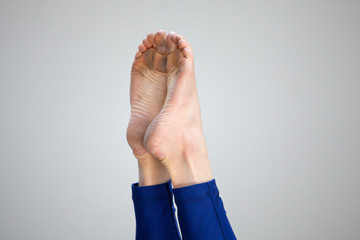 Foot of a gymnast