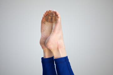 Foot of a gymnast