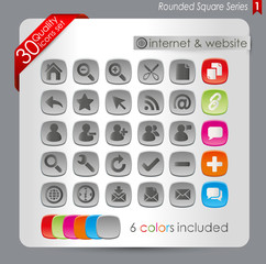 Rounded Square Series 1 - Internet ans website icons