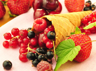 Obst, Waffel