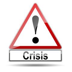 Señal peligro Crisis
