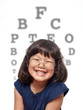 Little Girl Vision Test for Glasses