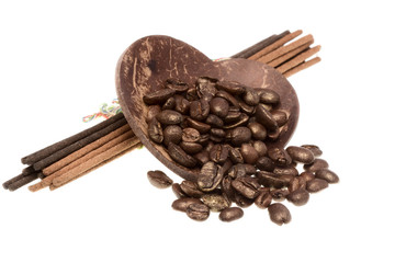 Coffee and aromatic sticks