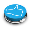 Like It - Thumbs Up Icon on Round Blue Button