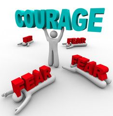 One Person with Courage Has Success, Others Afraid Fail