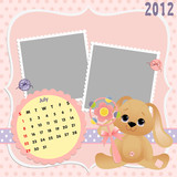 Baby's monthly calendar for 2012