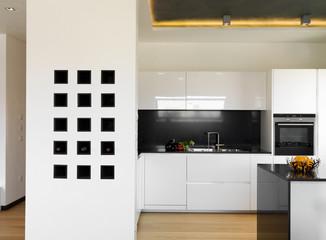 lussuosa moderna cucina bianca