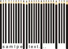 Ołówek czarny kod kreskowy