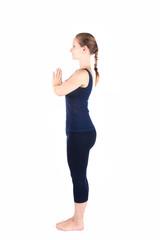 Preposition of Yoga surya namaskar sun salutation