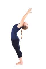 First step of Yoga surya namaskar sun salutation