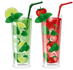 Refreshing mojito cocktails