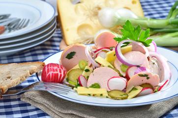Herzhafter Wurstsalat zur Brotzeit