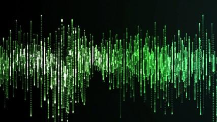 Green equalizer animation