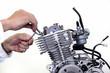 バイクのエンジン整備