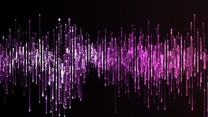 Purple equalizer animation