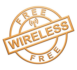 """Free Wireless"" Orange Icon"