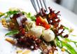 salat - körner - mozzarella