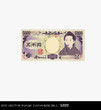 eps Vector image: Japanese bill 5000