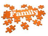 3d Family puzzle