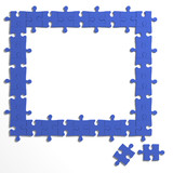 3d Puzzle frame with blank centre