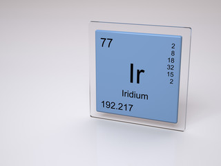Iridium - symbol Ir - chemical element of the periodic table
