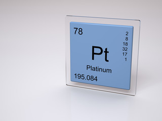 Platinum - symbol Pt - chemical element of the periodic table
