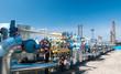 Leinwandbild Motiv Gas industry. row gas valves