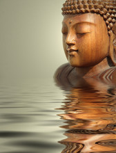 Fond de l'eau bouddha