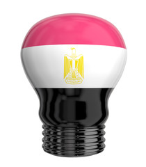 3d lamp with Egypt flag isolated