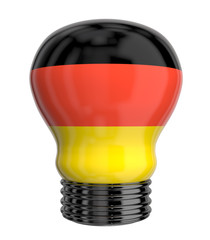 3d lamp with Germany flag isolated