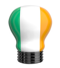 3d lamp with Ireland flag isolated