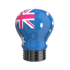 3d lamp with Australia flag isolated