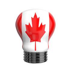 3d lamp with Canada flag isolated