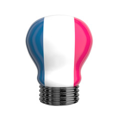 3d lamp with France flag isolated