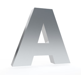 3d letter 'A' isolated