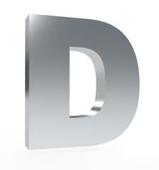 3d letter 'D' isolated