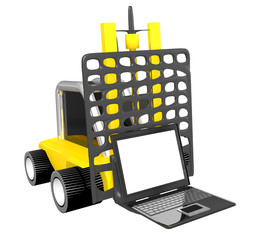 3d loader with notebook isolated