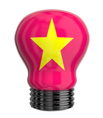 3d lamp with Vietnam flag isolated