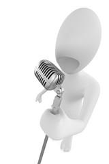 Cantante con microfono